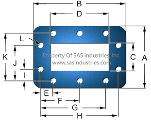 Waveguide Gaskets Flat 10 Hole